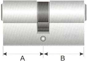 Doppelzylinder mit Längenangaben